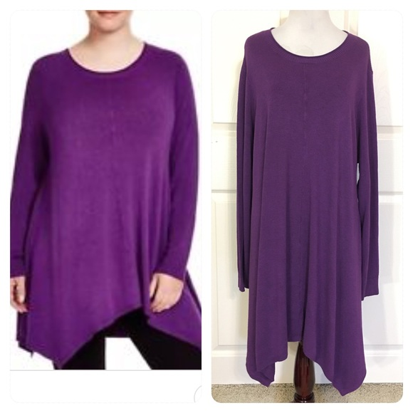 fef598595997 Eileen Fisher Sweaters - EILEEN FISHER African Violet Asymmetrical Tunic